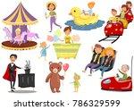 happy people having fun in... | Shutterstock .eps vector #786329599