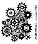 black gears background | Shutterstock .eps vector #786329959