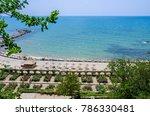 promenade on the black sea... | Shutterstock . vector #786330481