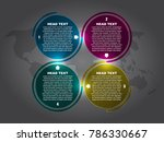 four step infographic and... | Shutterstock .eps vector #786330667