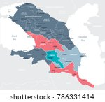 caucasus region map   detailed... | Shutterstock .eps vector #786331414