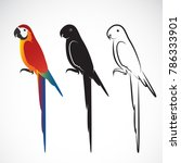 vector of a parrot  macaws  on... | Shutterstock .eps vector #786333901