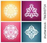 azerbaijan ornament  national... | Shutterstock .eps vector #786343714