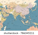 southern asia map   vintage... | Shutterstock .eps vector #786345211