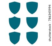 shield icon set  protect guard... | Shutterstock .eps vector #786345994