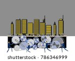 urban structure and gear clip... | Shutterstock .eps vector #786346999