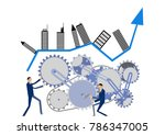 urban structure and gear clip... | Shutterstock .eps vector #786347005