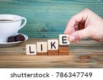 like. wooden letters on the... | Shutterstock . vector #786347749