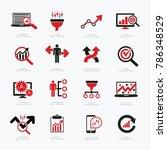 data analysis icon set design | Shutterstock .eps vector #786348529