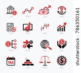 financial icon set design | Shutterstock .eps vector #786350161