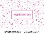 vector heart seamless pattern....   Shutterstock .eps vector #786350614
