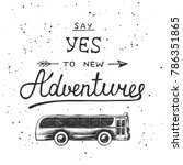 travel vector hand drawn unique ... | Shutterstock .eps vector #786351865