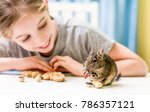 Young Girl Observe The Degu...