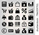 business vector icon set.... | Shutterstock .eps vector #786359701
