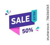 sale banner design template.... | Shutterstock .eps vector #786366565
