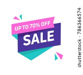 sale banner design template.... | Shutterstock .eps vector #786366574