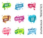 sale banners design templates... | Shutterstock .eps vector #786367621