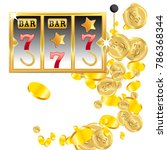 casino. golden slot machine... | Shutterstock .eps vector #786368344
