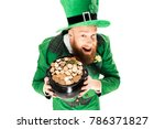 Excited leprechaun in green...