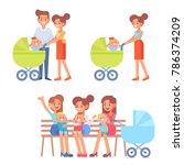 motherhood vector set. family...   Shutterstock .eps vector #786374209