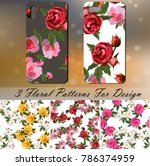 original rose patterns for... | Shutterstock .eps vector #786374959