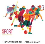 color sport background.... | Shutterstock .eps vector #786381124