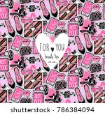 vector seamless pattern with... | Shutterstock . vector #786384094