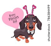 card of a valentine's day.... | Shutterstock .eps vector #786384499