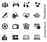 hobbies icons. black flat...   Shutterstock .eps vector #786384529