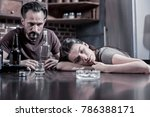 husband and wife. tired... | Shutterstock . vector #786388171