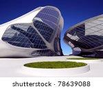 modern building on a background ...   Shutterstock . vector #78639088