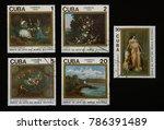 cuba   circa 1989  collectible... | Shutterstock . vector #786391489