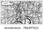 bangkok thailand city map in... | Shutterstock .eps vector #786397621