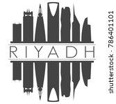 riyadh saudi arabia skyline... | Shutterstock .eps vector #786401101
