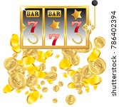 casino. golden slot machine... | Shutterstock .eps vector #786402394