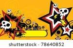 star skull cartoon background...   Shutterstock .eps vector #78640852