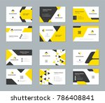 business cards design templates ... | Shutterstock .eps vector #786408841