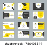 business cards design templates ... | Shutterstock .eps vector #786408844
