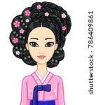 asian beauty. animation... | Shutterstock .eps vector #786409861