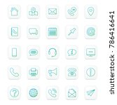 set of contact icons | Shutterstock .eps vector #786416641