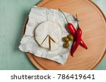 cheese brie camembert  olives... | Shutterstock . vector #786419641