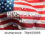 poster  memorial day | Shutterstock . vector #786425005