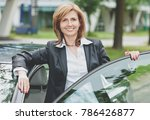 young happy female driver | Shutterstock . vector #786426877