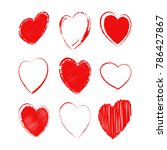 set of different hearts. heart... | Shutterstock .eps vector #786427867