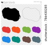 cook islands high detailed map. ... | Shutterstock .eps vector #786430285
