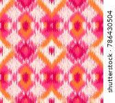 Seamless Ikat Pattern. Abstrac...