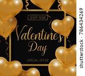 valentine's day big sale offer  ... | Shutterstock .eps vector #786434269