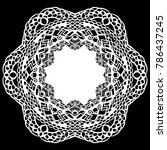 lace round paper doily  lacy...   Shutterstock .eps vector #786437245