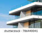 new apartment glass balcony... | Shutterstock . vector #786440041