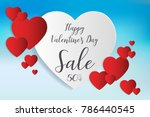 valentine s day sale background....   Shutterstock .eps vector #786440545